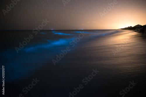 Photo Bioluminescence in the Ocean, Chabahar, Sistan and Baluchistan, Iran
