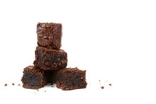 Fresh Baked Brownies In A Pile...