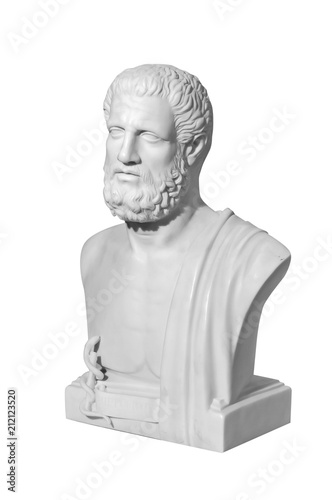 marble statue of a man on a white background