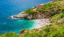 Riserva Dello Zingaro, Famous Natural Reserve In Sicily, Southern Italy.
