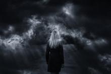 Dramatic Dark Stormy Sky With ...