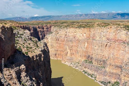Tuinposter Canyon Bighorn Canyon National Recreation, Wyoming, USA