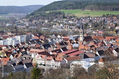 Spoed Foto op Canvas Rudnes Ruine Burg Honburg, auf Honberg in tuttlingen in deutschland