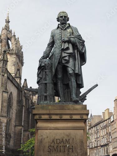 Adam Smith statue in Edinburgh Poster Mural XXL