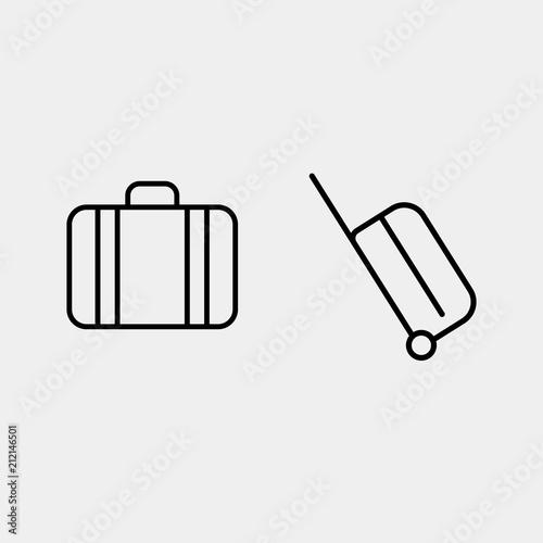 Fotografía Valise vector, suitcase icon, modern line vector icon