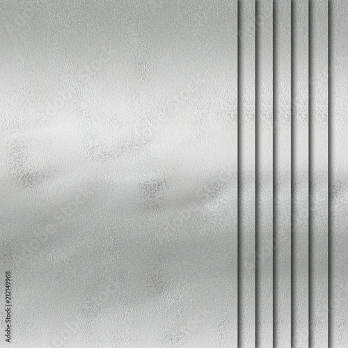 Tuinposter Metal silver metal template background