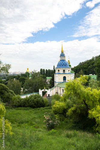 Foto op Canvas Kiev Monastery in the botanical garden of Kiev Ukraine