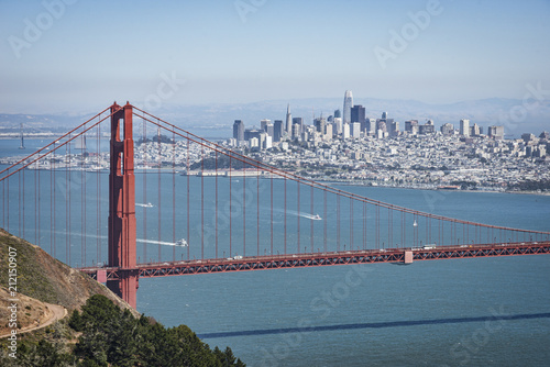 Foto op Canvas Historisch geb. Golden Gate Bridge