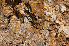 Natural Mineral Stone Flint, Sedimentary Cryptocrystalline Form Of The Mineral Quartz.