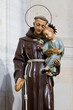 Pavia, Italy. 13 February 2017. The statue of Saint Anthony of Padua with Baby Jesus in his arms in the Duomo di Pavia (Pavia Cathedral)