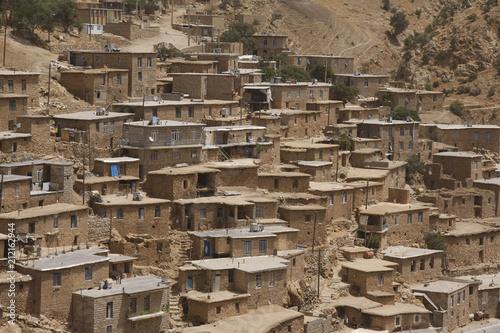 Cuadros en Lienzo  Houses of Palangan, Kurdish village in Iran