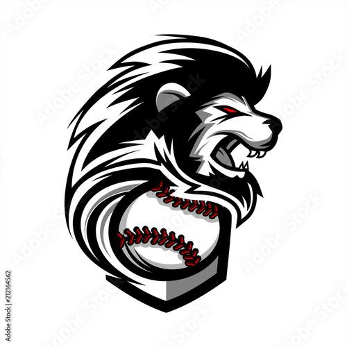 Photo  Lion Baseball Team Logo