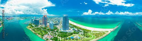 Panorama view of Miami Beach, South Beach, Florida, USA.