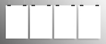 Four Vertical Posters Mockup A4. Mock-up.