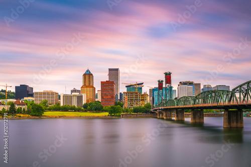 Fototapeta Portland, Oregon, USA Skyline obraz