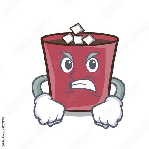 Angry hot chocolate mascot cartoon Wallpaper Mural