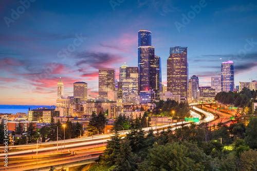 Keuken foto achterwand Peking Seattle, Washington, USA Skyline