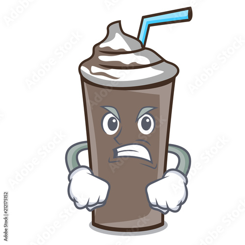 Angry ice chocolate mascot cartoon Wallpaper Mural