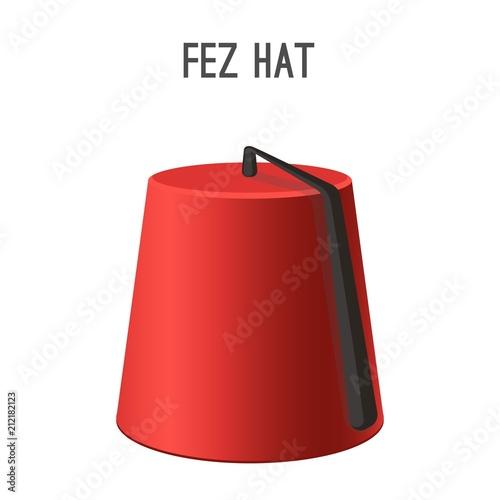 Fotografía  Fez hat national headwear of people vector illustration