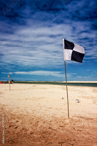 Foto op Canvas Australië Australian Surf Zone Flag