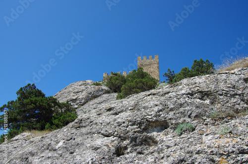 Foto  SUDAK, CRIMEA - June, 2018: Genoese fortress