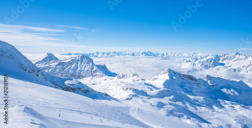 Fotomural  Italian Alps in the winter