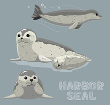 Harbor Seal Cartoon Vector Ill...