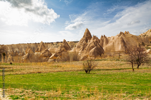Garden Poster Natural Park Stone cliffs looks like a Fairy houses in Love valley