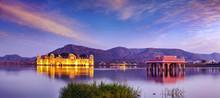Water Palace Jal Mahal, Man Sager Lake, Jaipur, Rajasthan, India, Asia