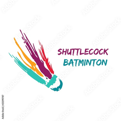 Shuttlecock icon with Abstract Swoosh. You can use for ...