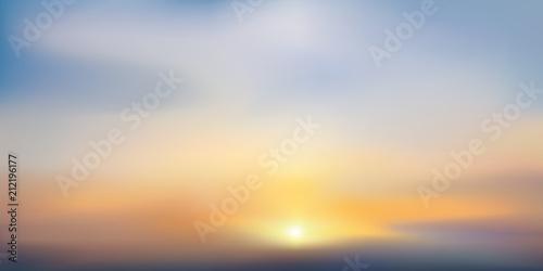 Canvas Print coucher de soleil - soleil couchant - lever de soleil - fond - ciel - soleil - c