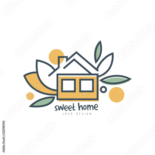 Sweet Home Logo Template Design Eco Friendly House Concept