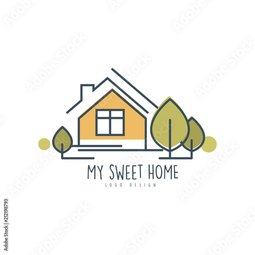 My Sweet Home Logo Template Design Eco Friendly House Concept