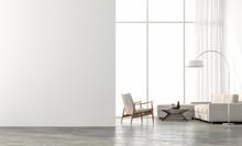 Minimal Style  Living Room 3d ...