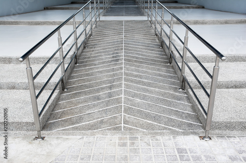 ramp for the wheelchair and stairs for normal people adjoining Poster Mural XXL