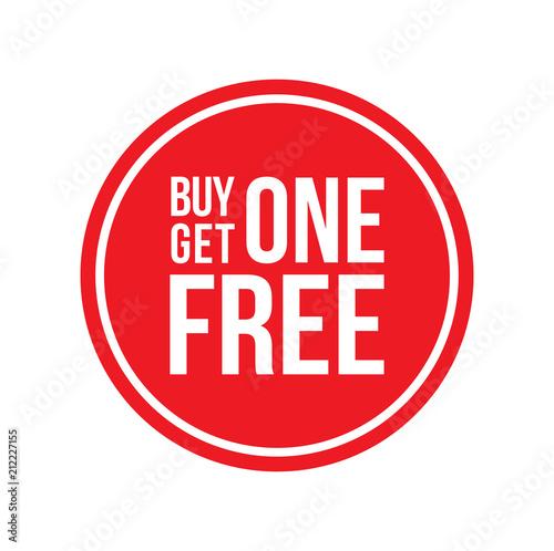 Fényképezés  Buy One Get One Off Sign Circular