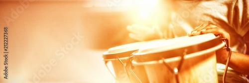 Stampa su Tela Girl playing drums