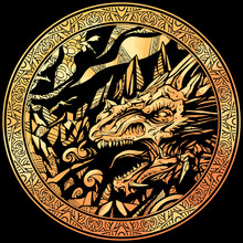 Gold Coin With A Dragon Image