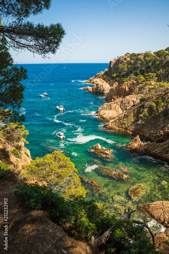 Beautiful coastline in Spain, Costa Brava Fototapet