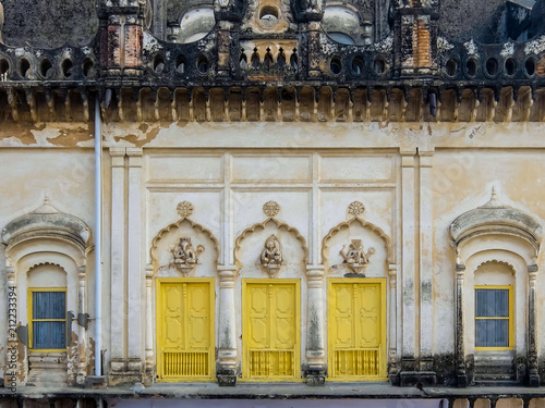 Foto op Aluminium Oude gebouw Ayodhya, India. Architecture of Ayodhya, also known as Saketa, an ancient city of India, believed to be the birthplace of Rama.