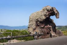 Elephant Rock Of Castelsardo (called Roccia Dell'Elephante) - Known As Sa Pedra Pertunta, The Perforated Rock, Sardinia, Italy