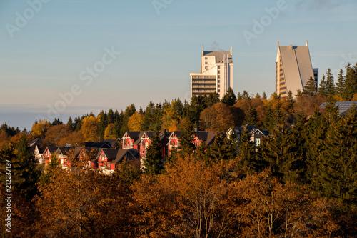 Foto  Oberhof im Sonnenuntergang