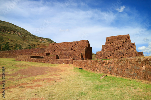 Deurstickers Zuid-Amerika land Archaeological site of Piquillacta, impressive ancient ruins in the South Valley of Cusco, Peru
