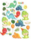 Fototapeta Dinusie - Dinosaur Birthday Theme