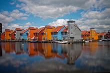 Residential Housing Development On The Water, Groningen, Holland