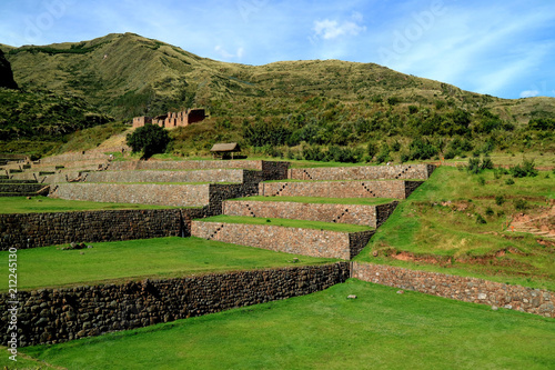Deurstickers Zuid-Amerika land The well preserved agricultural Inca ruins of Tipon, an outstanding archaeological site in Cusco region of Peru