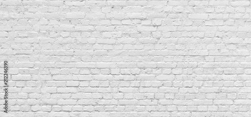 Poster Graffiti White brick wall urban Background in high resolution