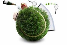 Summer Grass Tennis Concept