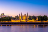 Fototapeta Londyn - tower of london at night in UK