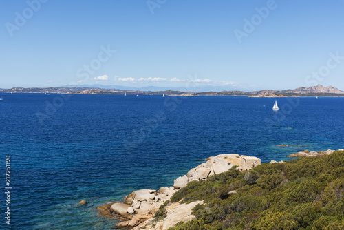 Fotografie, Obraz  the coast of Baja Sardinia, in Sardinia, Italy